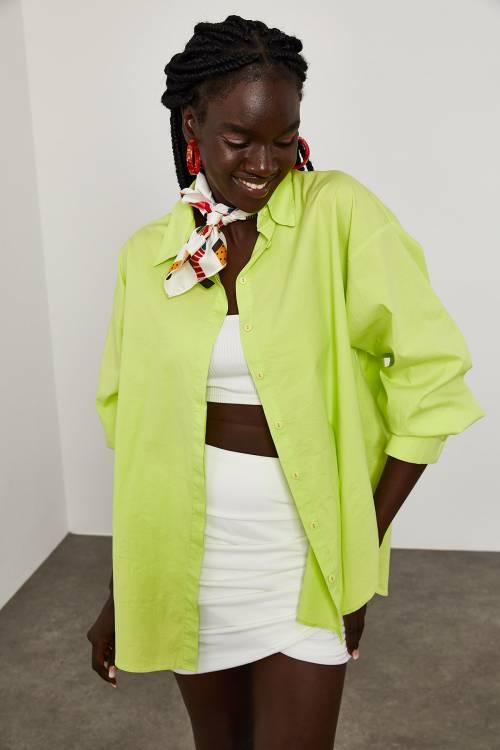 XHAN - Açık Yeşil Oversize Gömlek 1YXK2-45055-08