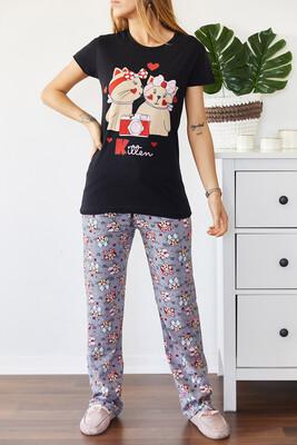 XHAN - Baskılı Pijama Takımı 0YXK8-43681-02