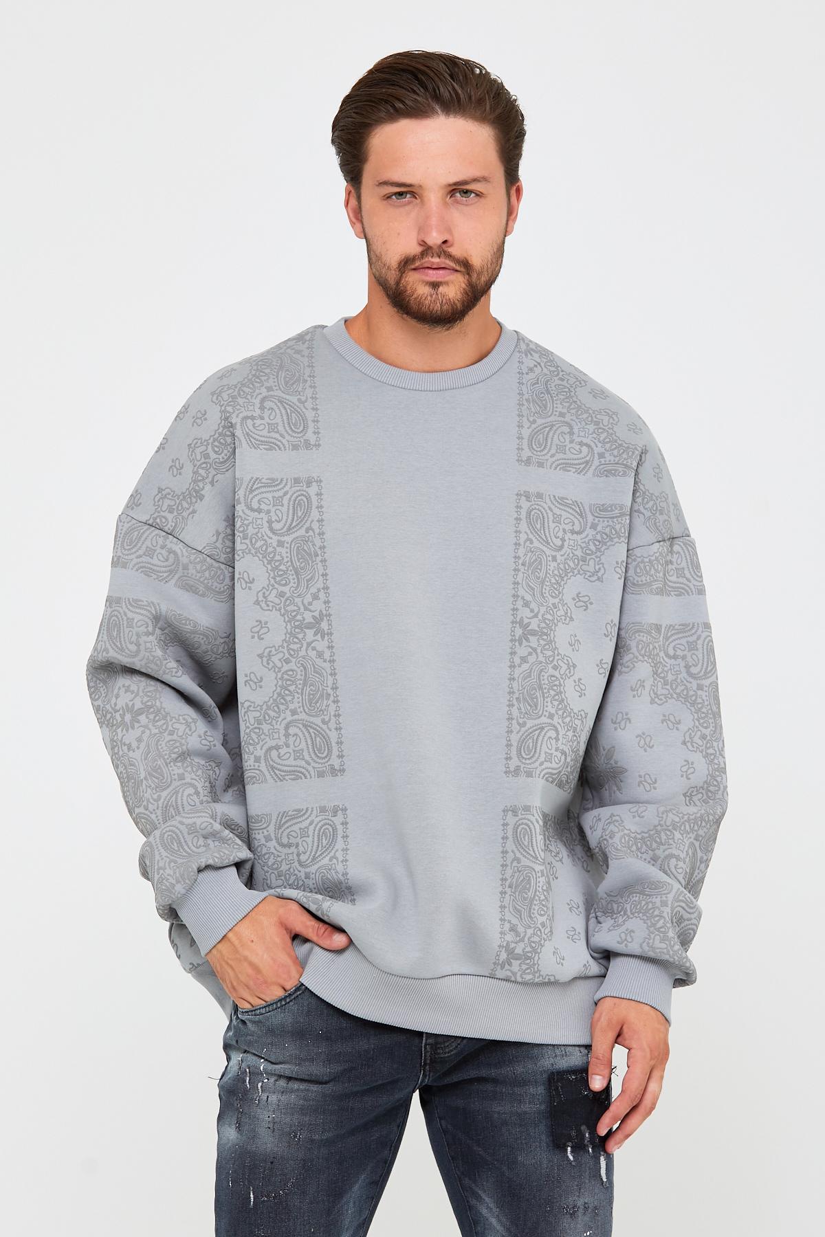 Bebe Mavisi Üç İplik Baskılı Sweatshirt 2KXE8-45499-55