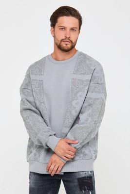 Bebe Mavisi Üç İplik Baskılı Sweatshirt 2KXE8-45499-55 - Thumbnail