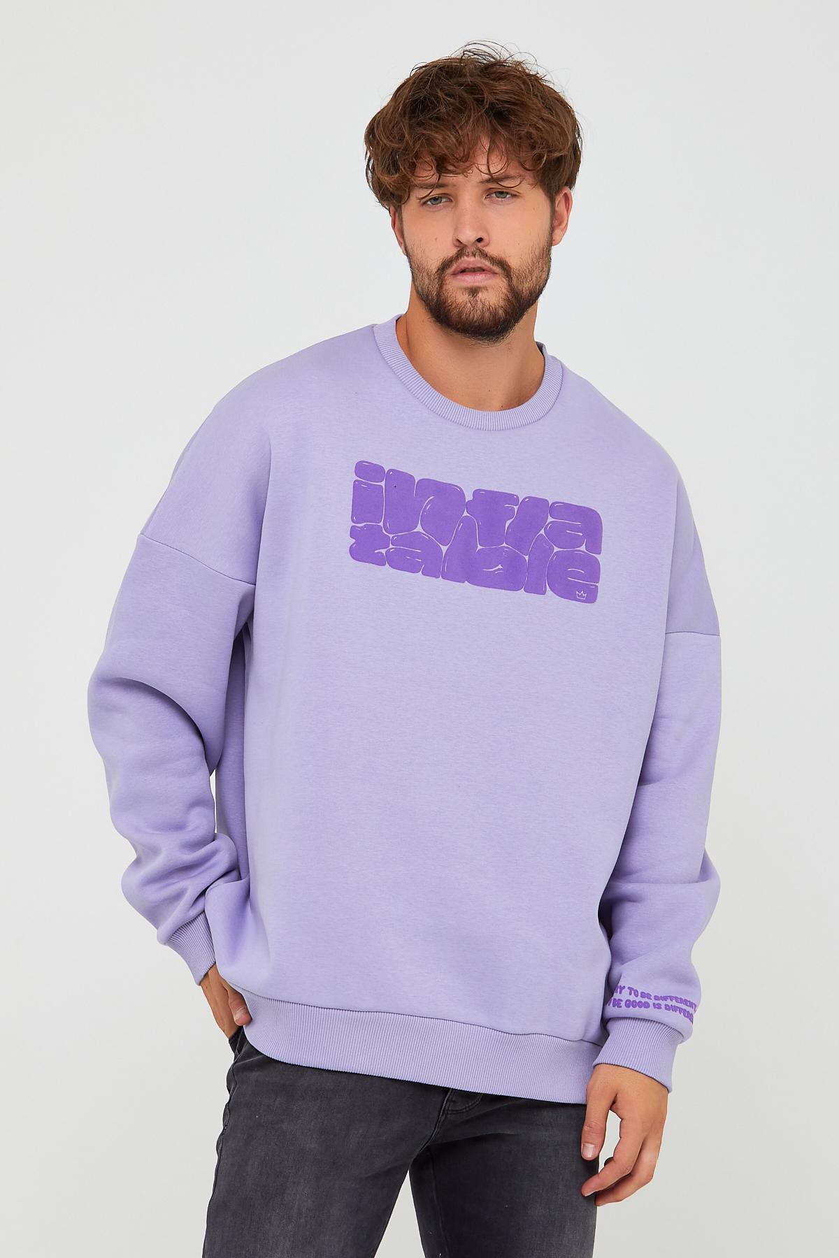 Bebe Mavisi Üç İplik Baskılı Sweatshirt 2KXE8-45501-55