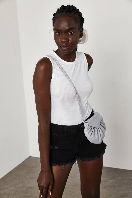 XHAN - Beyaz Askılı Fitilli Bluz 1YXK2-45050-01