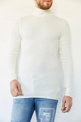 XHAN - Beyaz Balıkçı Yaka Kazak 0YXE3-44121-01
