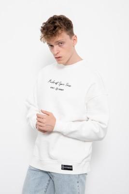 Beyaz Baskılı Sweatshirt 2KXE8-45405-01 - Thumbnail