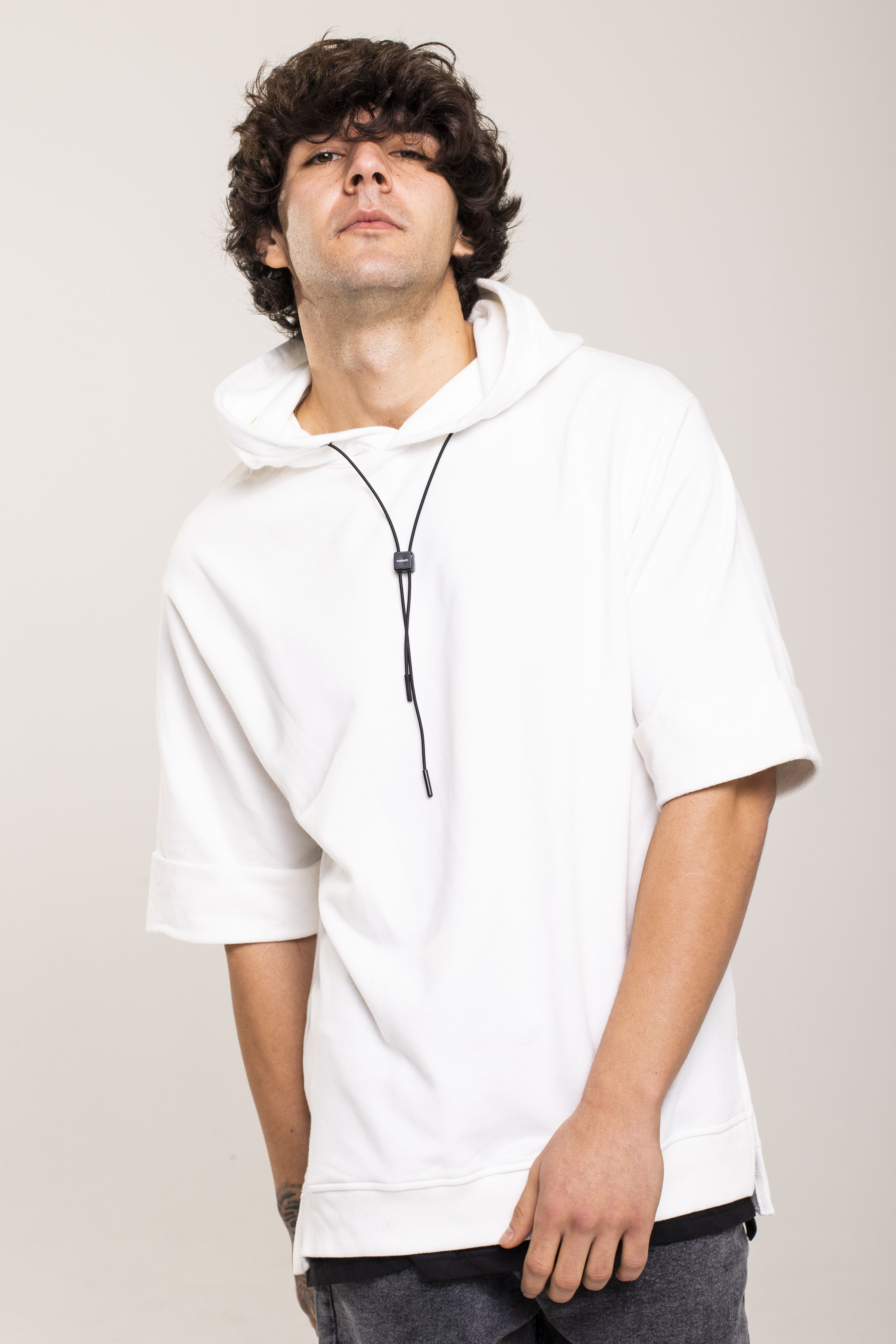 XHAN - Beyaz Kısa Kollu Sweatshirt 1KXE8-44515-01