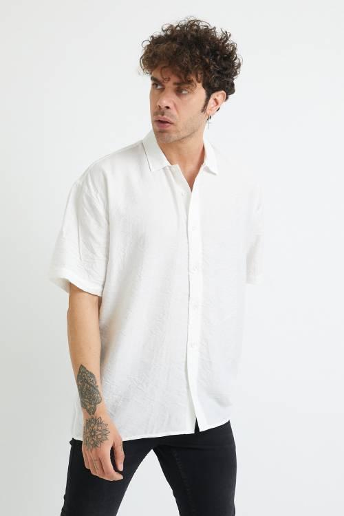 XHAN - Beyaz Oversize Gömlek 1YXE2-44883-01