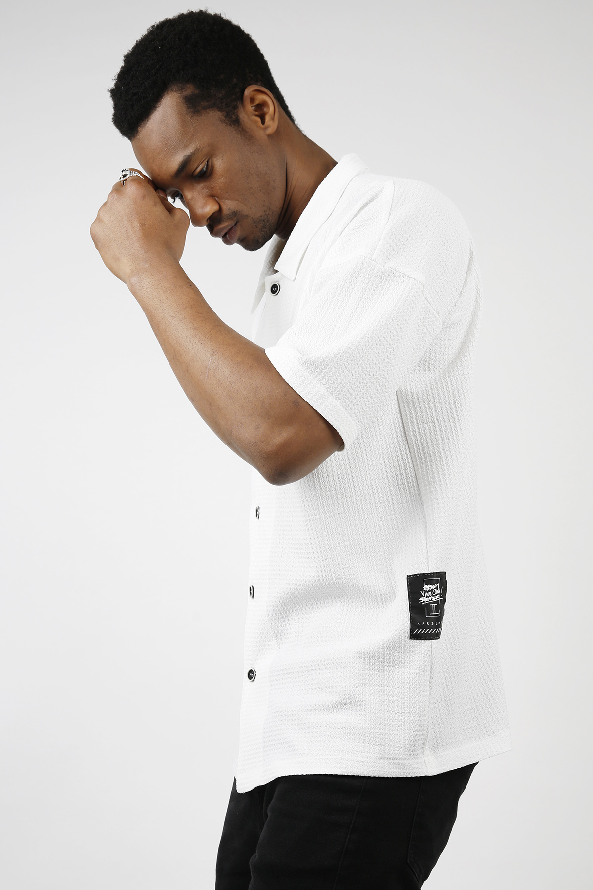 XHAN - Beyaz Salaş Kısa Kollu Gömlek 1KXE2-44733-01
