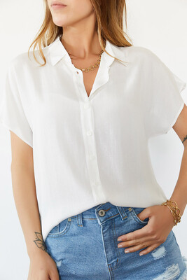 XHAN - Beyaz Yarasa Kol Gömlek 0YXK2-43934-01