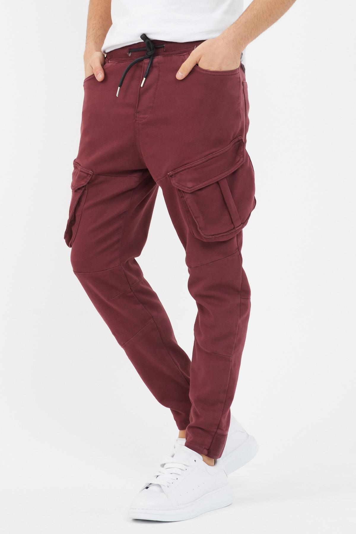 XHAN - Bordo Kargo Cepli Pantolon 1KXE5-44494-05