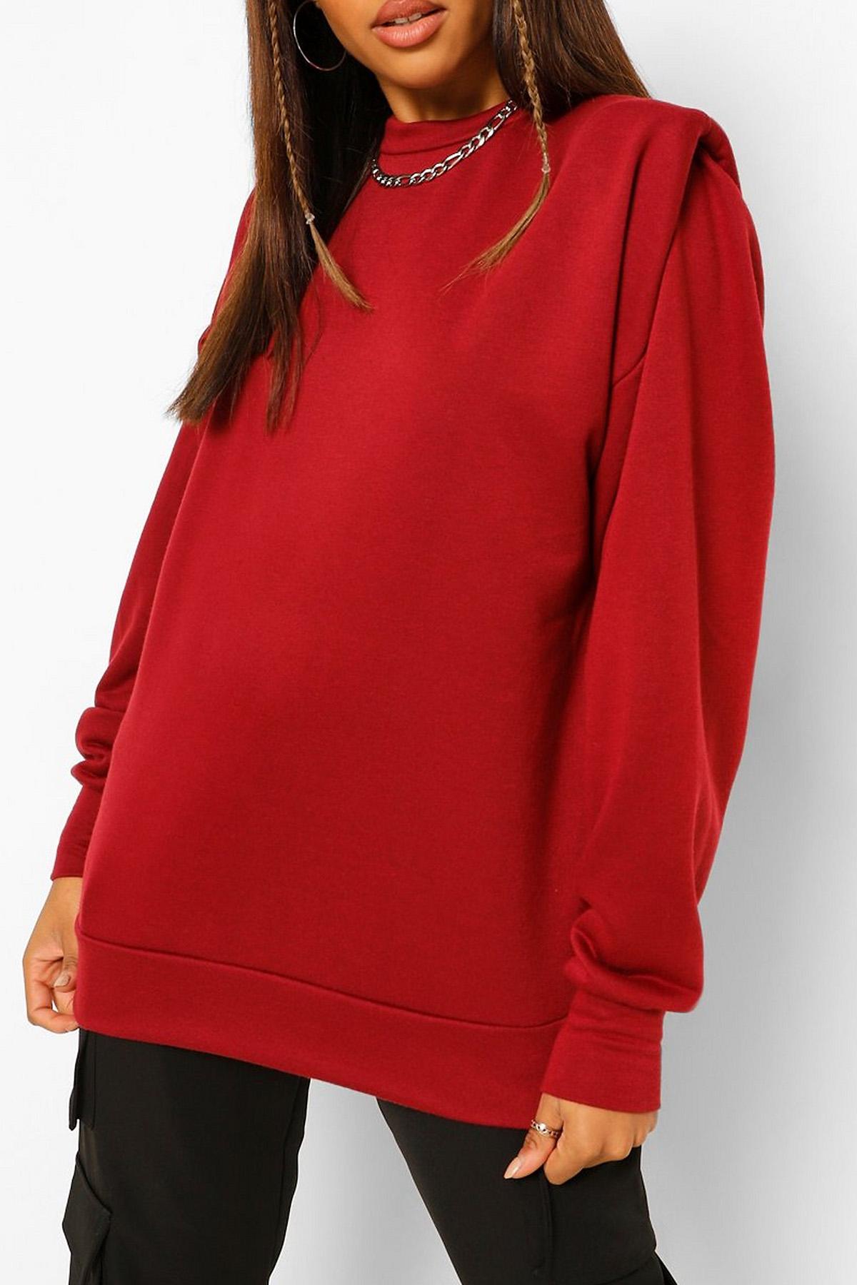 XHAN - Bordo Vatkalı Sweatshirt 1KXK8-44260-05