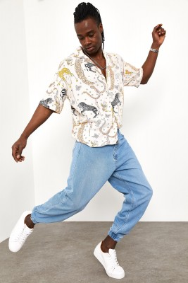 XHAN - Buz Mavisi Botfriend Jogger Kot Pantolon 1YXE5-44984-43