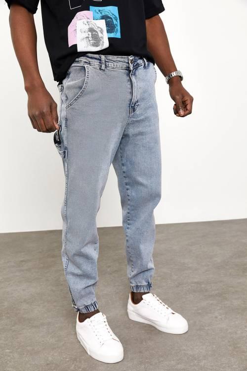 XHAN - Buz Mavisi Botfriend Jogger Kot Pantolon 1YXE5-44992-43