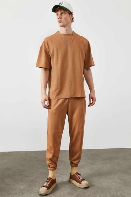 XHAN - Camel İkili Tshirt Takım 2KXE8-45344-53