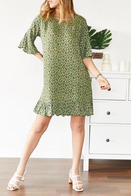 XHAN - Çiçek Desenli Kısa Elbise 0YXK6-43568-38