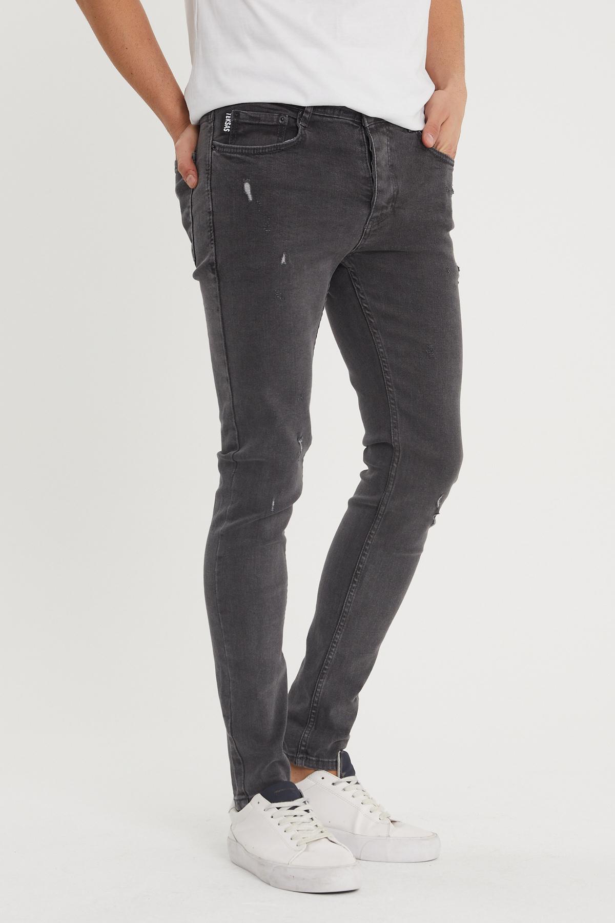 XHAN - Gri Slim Fit Jean Pantolon 1KXE5-44350-03