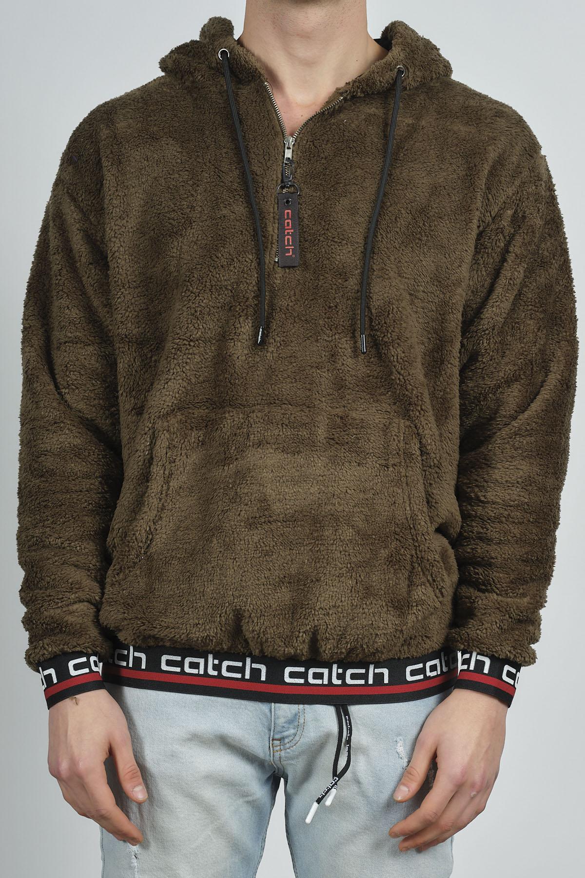 - Haki Kanguru Cepli Peluş Sweatshirt 1KXE8-44270-09