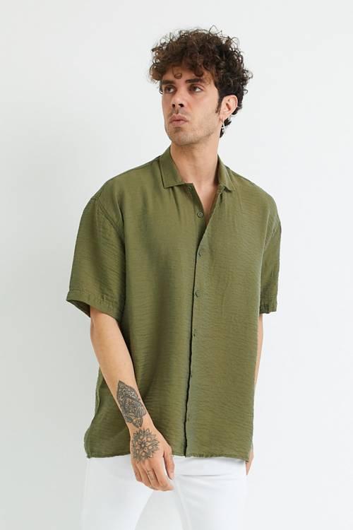 XHAN - Haki Oversize Gömlek 1YXE2-44883-09