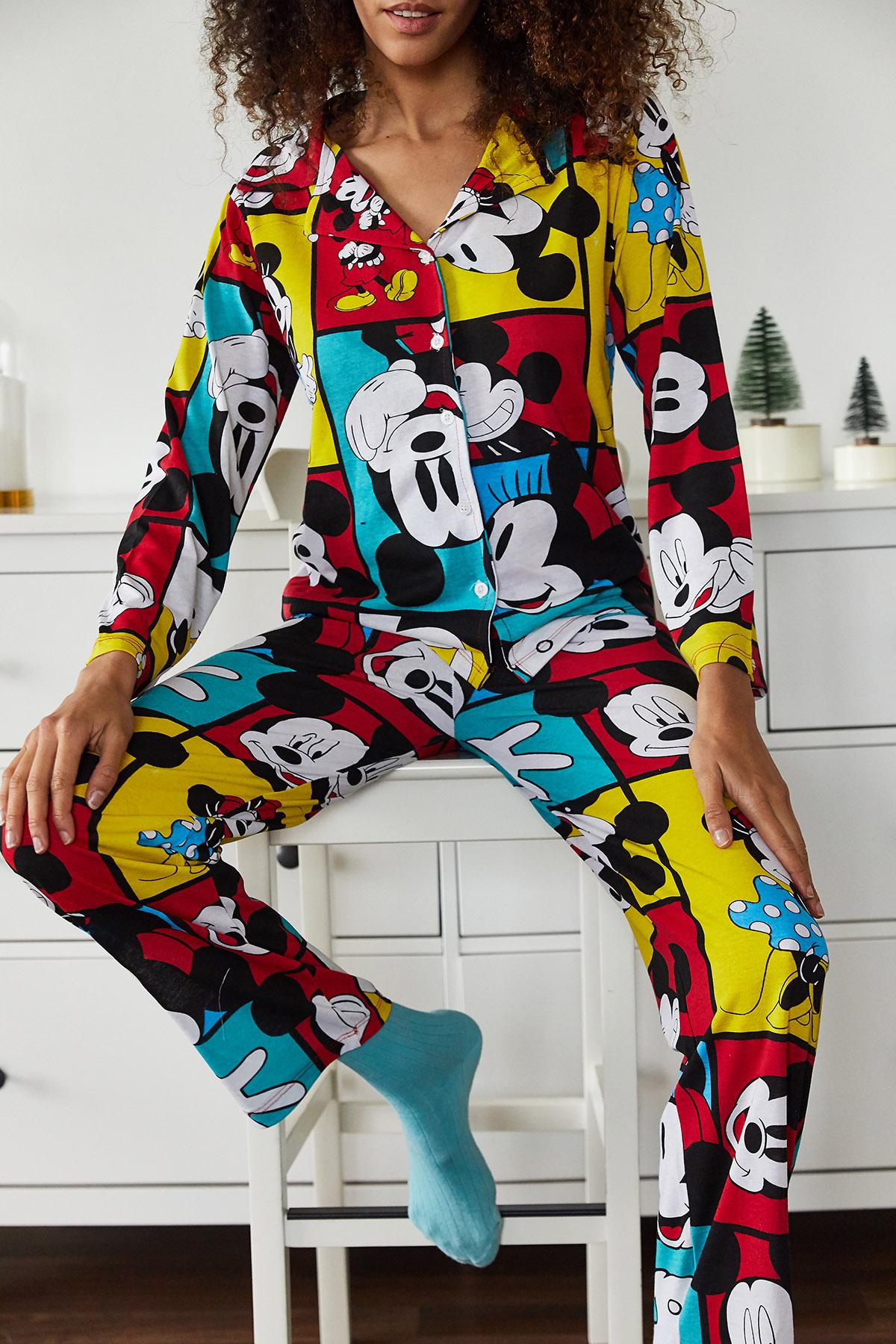 XHAN - Hardal Baskılı Pijama Takımı 1KXK8-44695-37