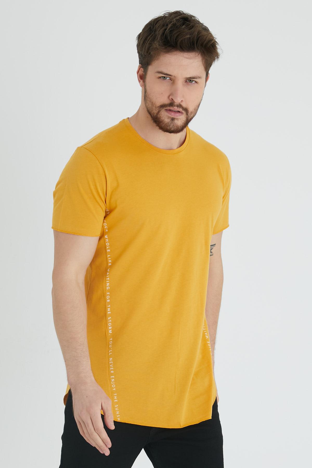 XHAN - Hardal Yanı Baskılı T-Shirt 1KXE1-44621-37