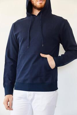 XHAN - Lacivert Kapüşonlu Şardonsuz İki İplik Sweatshirt 0YXE8-44090-14