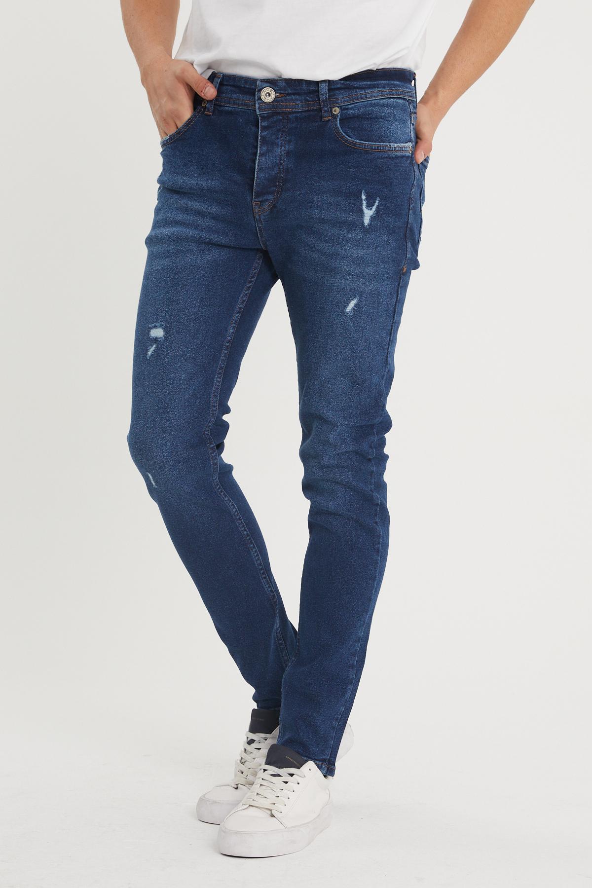 XHAN - Lacivert Slim Fit Jean Pantolon 1KXE5-44352-14