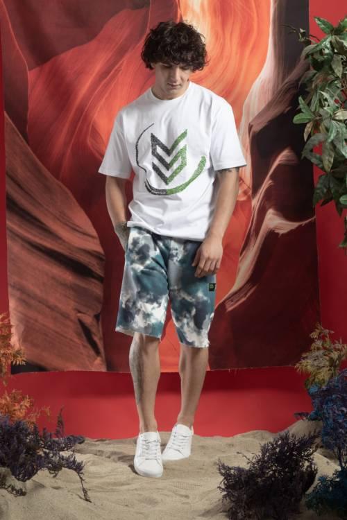 XHAN - Mavi Batik Desen Şort 1KXE8-44758-12