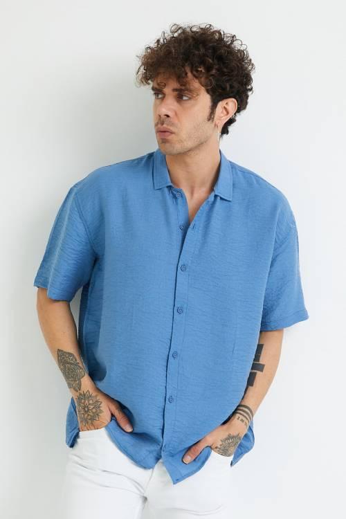 XHAN - Mavi Oversize Gömlek 1YXE2-44883-12