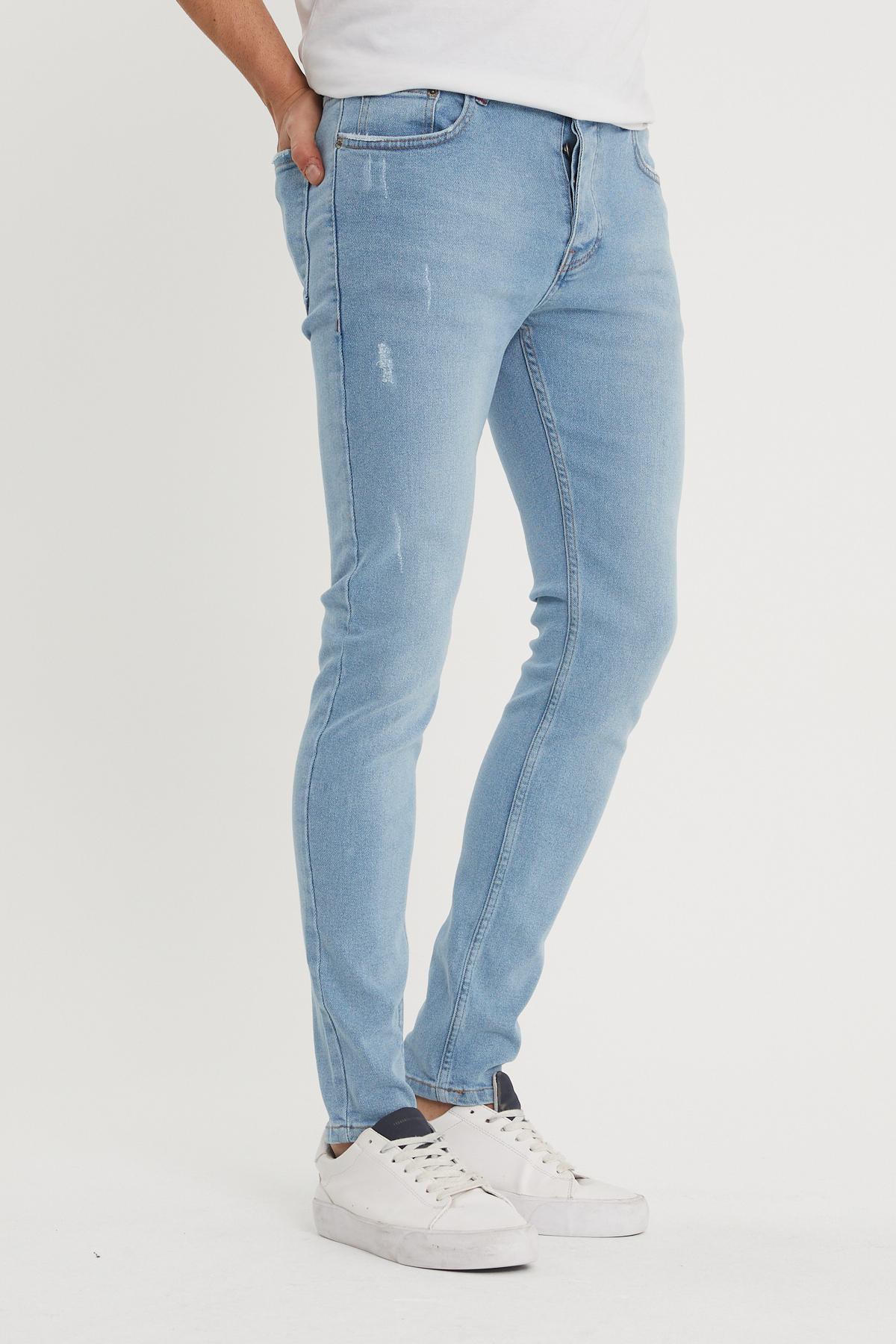XHAN - Mavi Slim Fit Jean Pantolon 1KXE5-44357-12