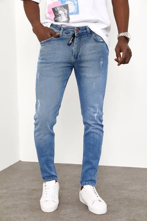 XHAN - Mavi Slim Fit Jeans 1YXE5-44989-12
