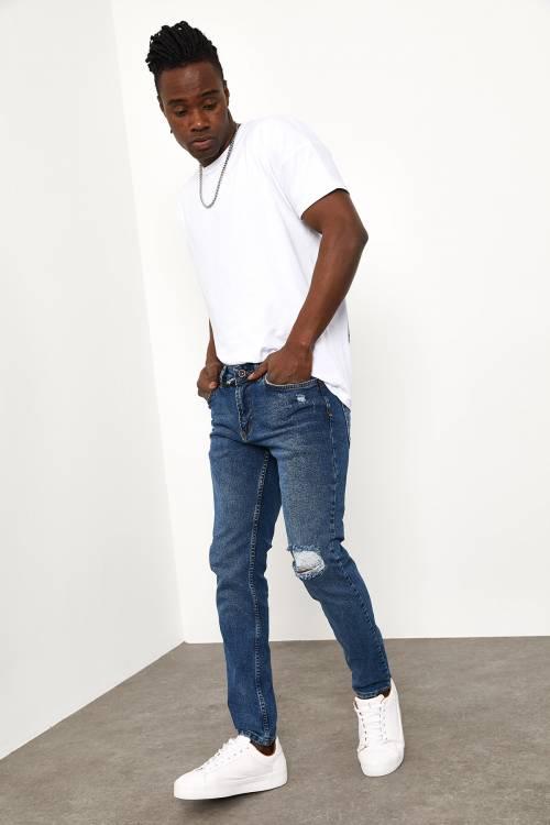 XHAN - Mavi Slim Fit Jeans 1YXE5-44991-12