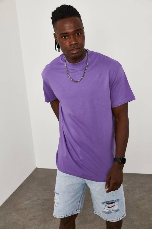 XHAN - Mor Oversize T-Shirt 1KXE1-44667-06