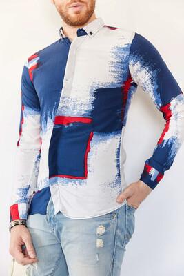 XHAN - Multi Baskılı Slim Fit Gömlek 0YXE2-44026-01