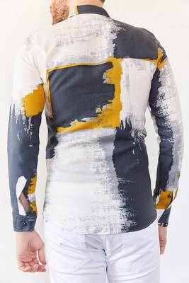 XHAN - Multi Baskılı Slim Fit Gömlek 0YXE2-44026-03