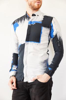 XHAN - Multi Baskılı Slim Fit Gömlek 0YXE2-44026-14