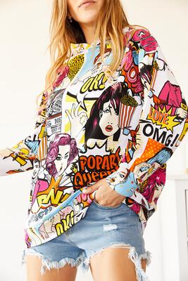 XHAN - Multi Baskılı Sweatshirt 0YXK8-44009-52