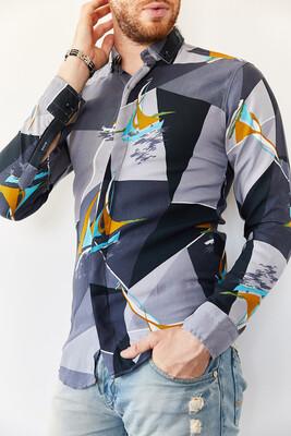 XHAN - Multi Desenli Slim Fit Gömlek 0YXE2-44035-03