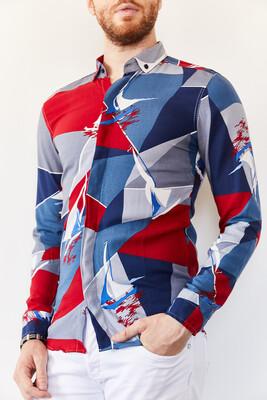 XHAN - Multi Desenli Slim Fit Gömlek 0YXE2-44035-12