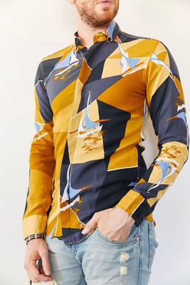 XHAN - Multi Desenli Slim Fit Gömlek 0YXE2-44035-37