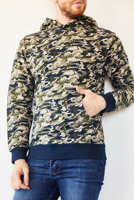XHAN - Multi Kamuflaj Desenli Şardonsuz İki İplik Sweatshirt 0YXE8-44103-14