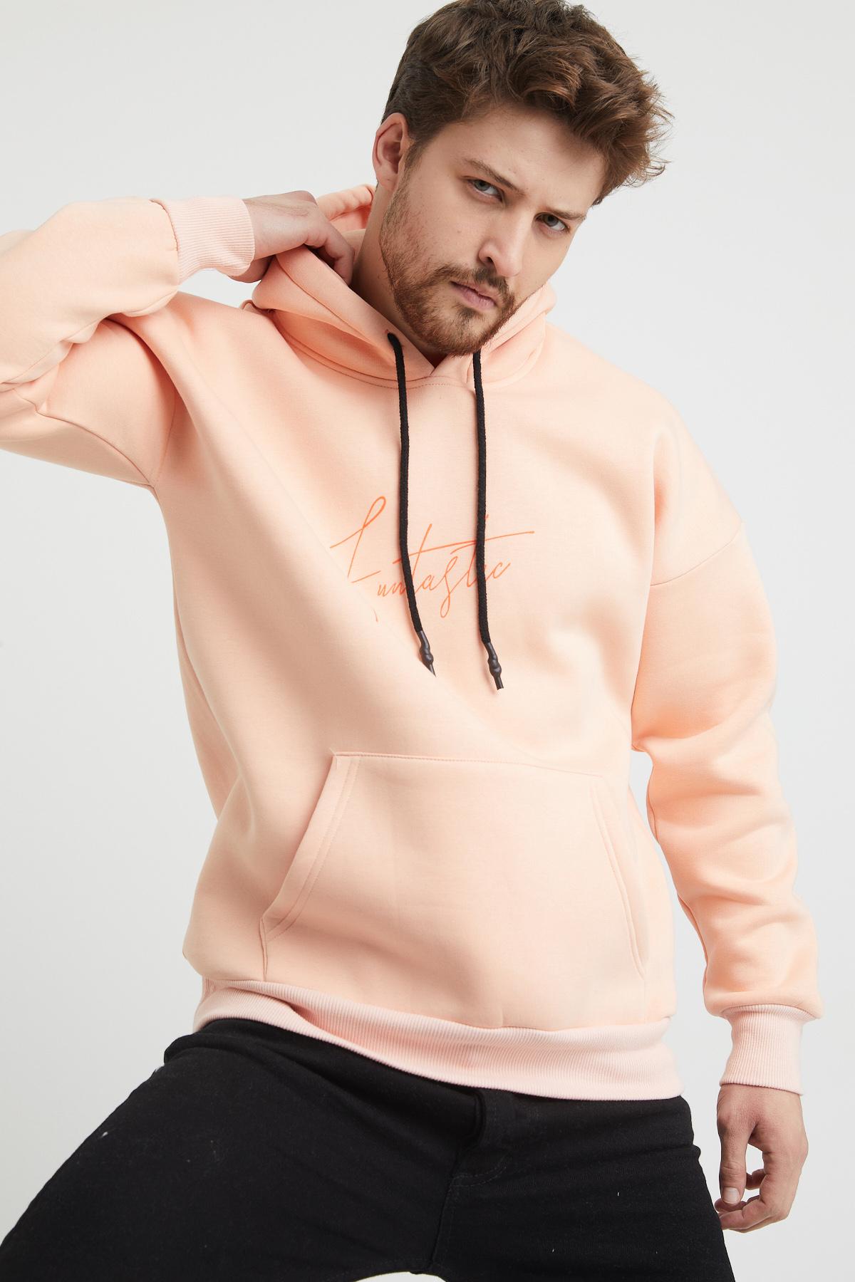 XHAN - Pudra Baskılı Sweatshirt 1KXE8-44367-50
