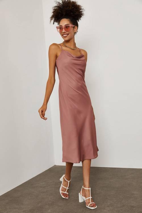 XHAN - Pudra İp Askılı Elbise 1YXK2-45281-50