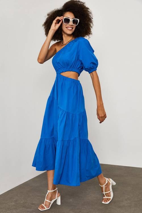 XHAN - Saks Tek Kol Elbise 1YXK6-45254-15