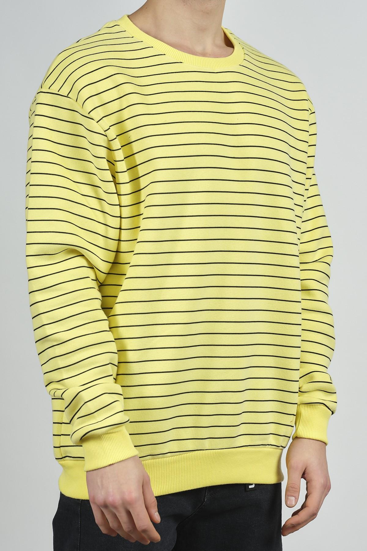- Sarı Çizgili Sweatsihrt 1KXE8-44272-10