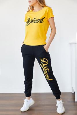 XHAN - Sarı & Siyah Baskılı EşoftmanTakım 0YXK8-43837-10