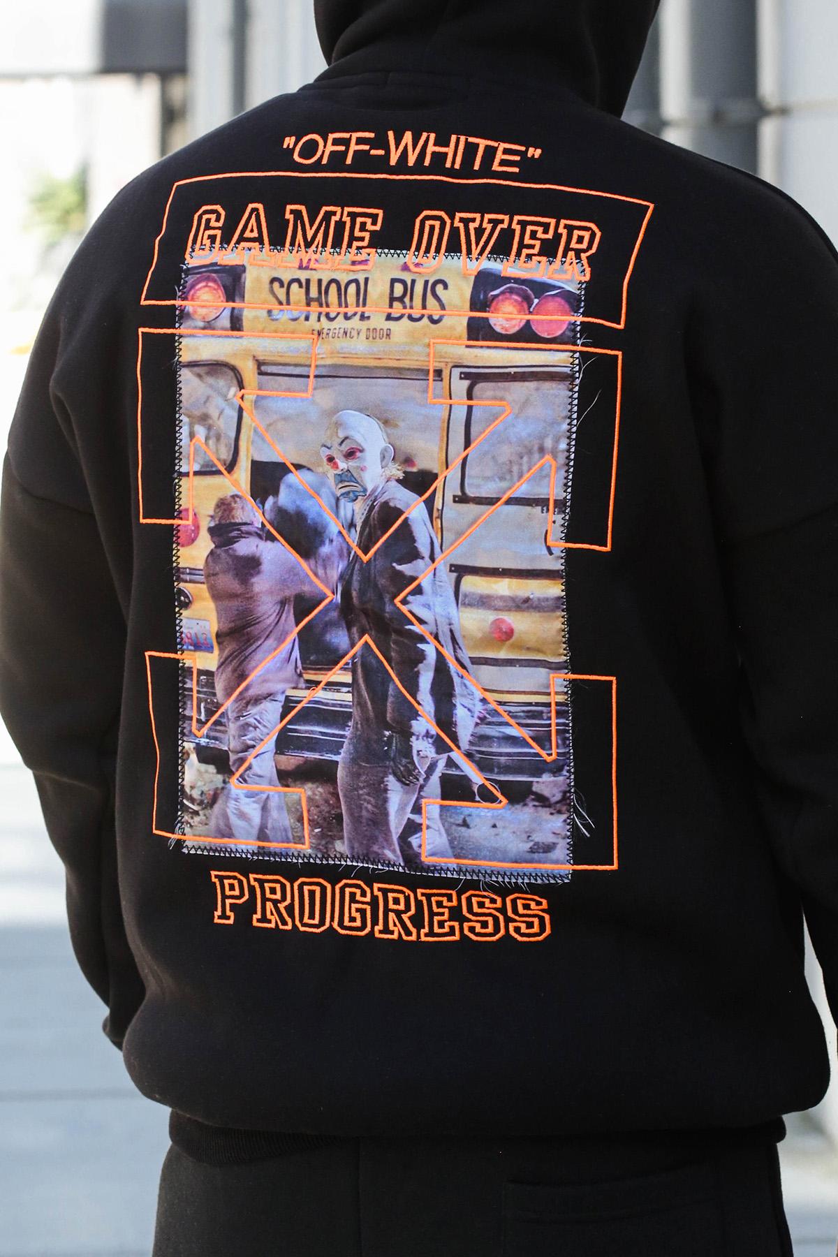 XHAN - Siyah Arkası Baskılı Sweatshirt 1KXE8-44325-02