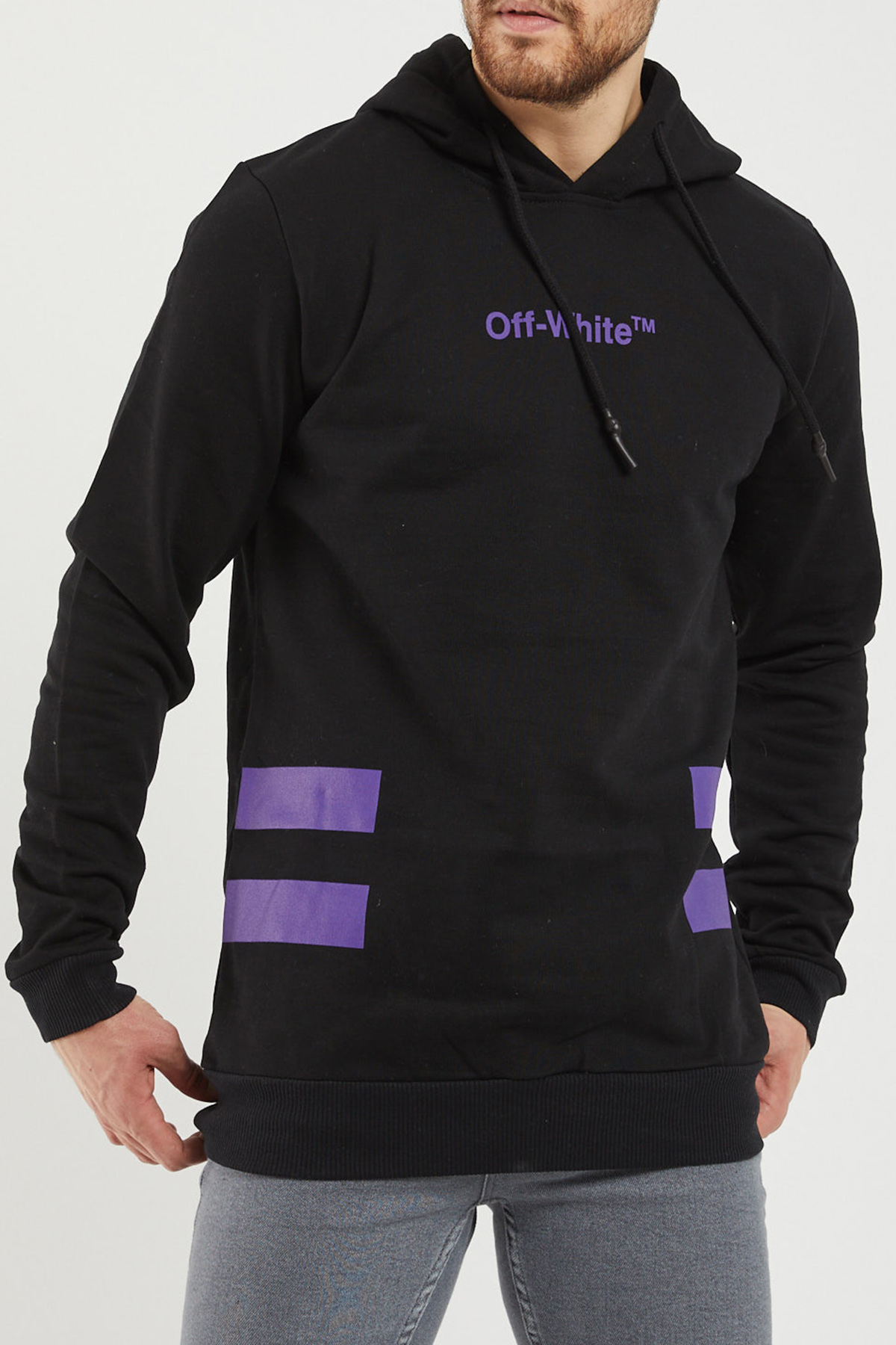 XHAN - Siyah Arkası Baskılı Sweatshirt 1KXE8-44362-02