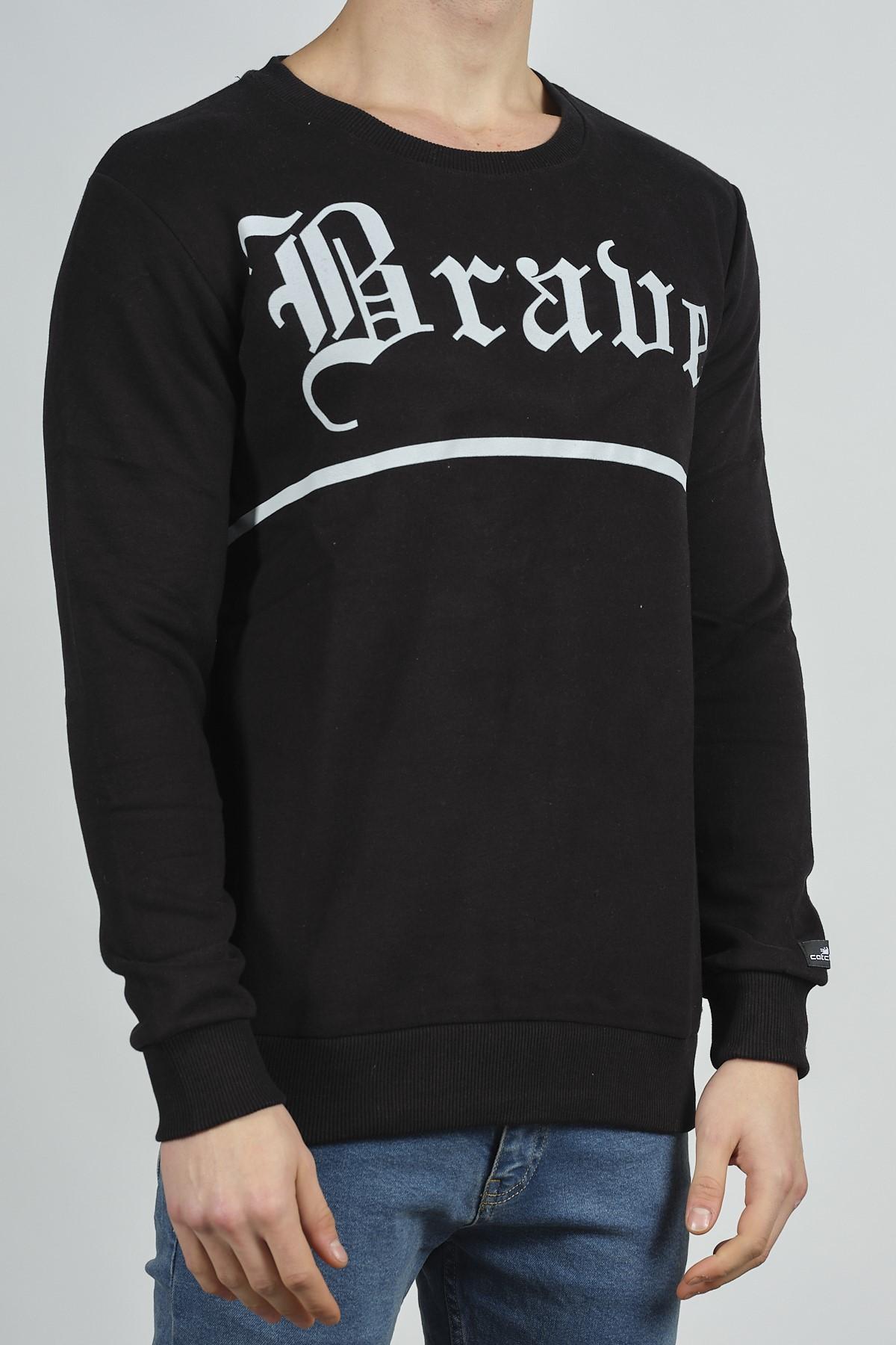 - Siyah Baskılı Sweatshirt 1KXE8-44268-02