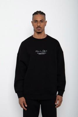 Siyah Baskılı Sweatshirt 2KXE8-45406-02 - Thumbnail