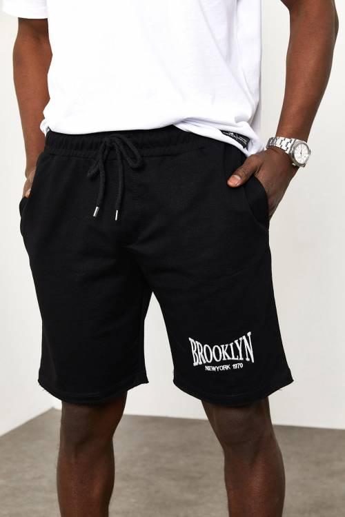 XHAN - Siyah Brooklyn Cepli Şort 1YXE8-44969-02