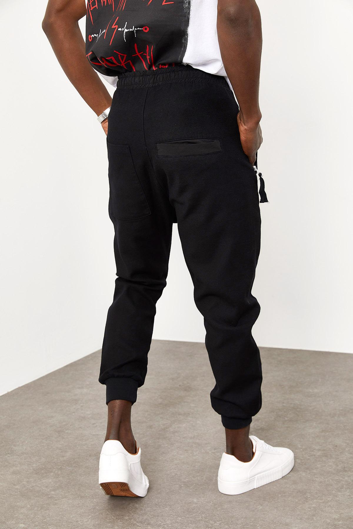 Siyah Cepli Fermuarlı Eşofman Altı 1YXE8-44966-02